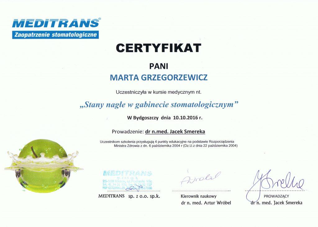 1c5f43f7 Certyfikaty Stomatologiczne Pracowników Gabinetu
